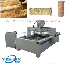 1325A-2 4-axis wood cnc router/ Cylinder Engraving CNC Wood Turning Machine for Hobby