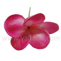 real touch foam plumeria flowers artificial PU plumeria flower head frangipani flower with fresh touch HOT sale