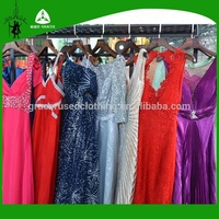Fashion ladies dinner dress cheap italy style party evening wedding dress free used clothes