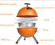 10-inch BBQ Grills/Apple Kettle BBQ Portable, Available in Various Colors