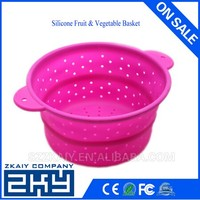 Eco-friendly Collapsible Fruit and Vegetable Silicone Baskets