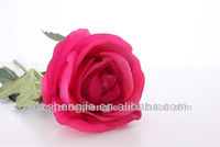 high quality lifelike artificial single rose for Valentine's Day
