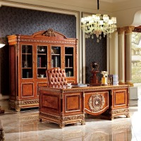 YB62 Classic solid wood office furniture, executive veneer office desk, luxury boss office table latest designs