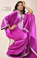 pinkish silver design stylish kaftan