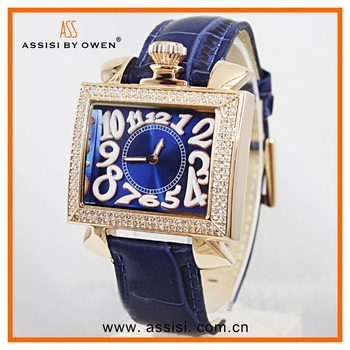 Assisi Japan movement vintage watches women,lady watch gold watch for women