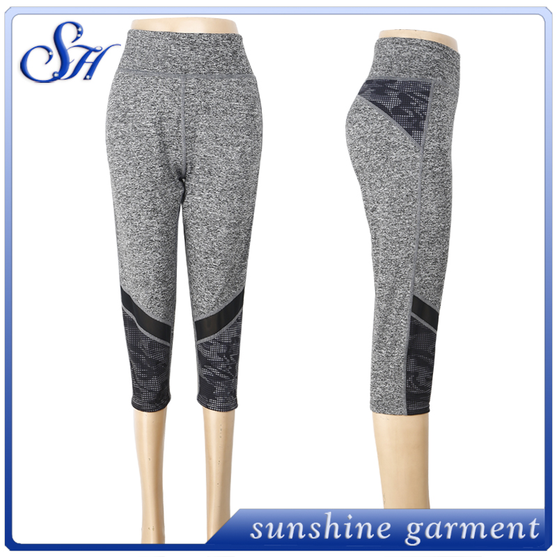 women yoga pants fabric OEM 2016 sublimation running compression yoga pants ladies outdoor leggings