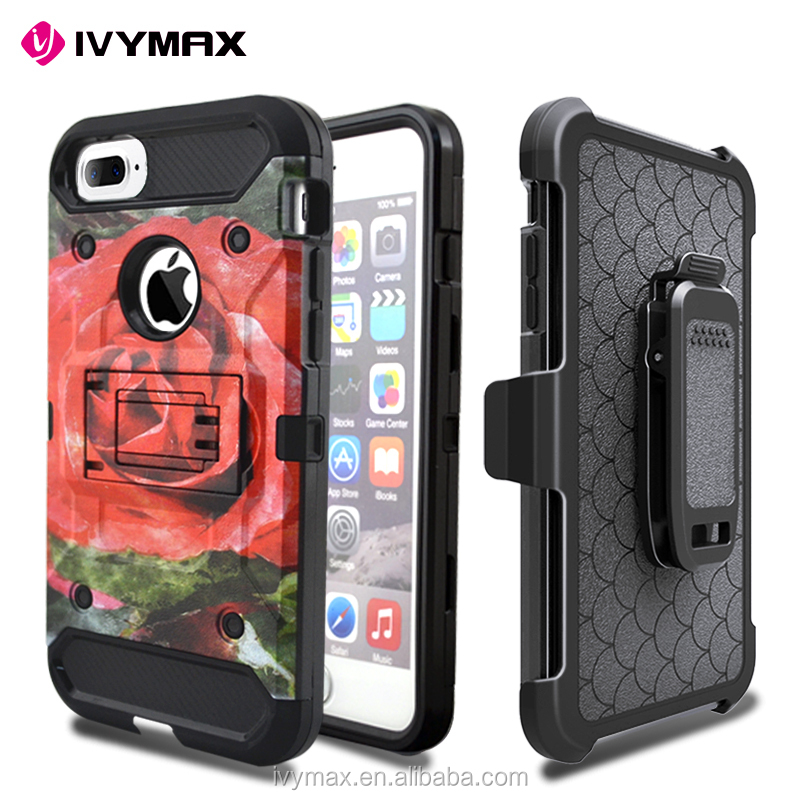 IVYMAX customized design cover case with kickstand for apple iphone 7