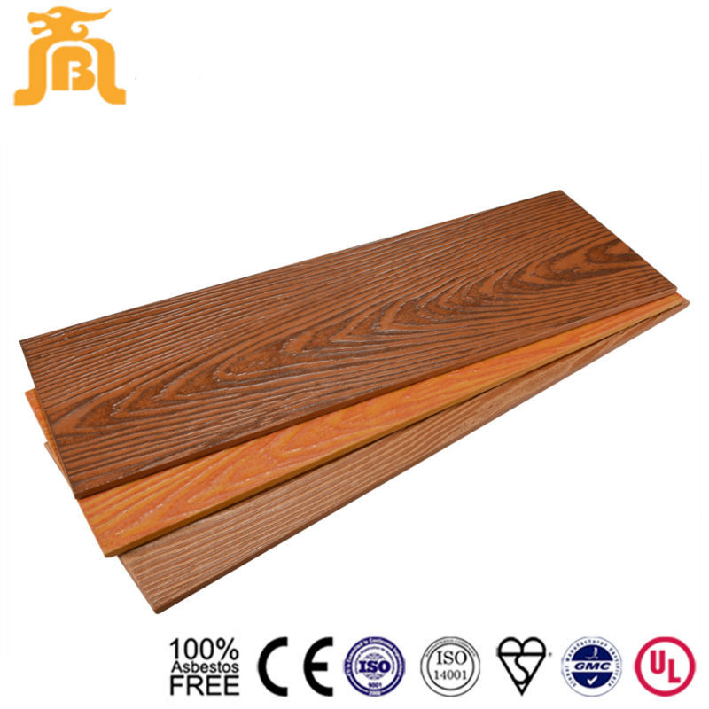Building Materials Heat Insulation Wood Fiber Cement Siding Board Price for Prefab Homes