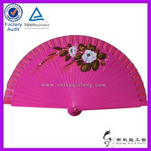 promotion Spanish wooden hand fan with customized logo