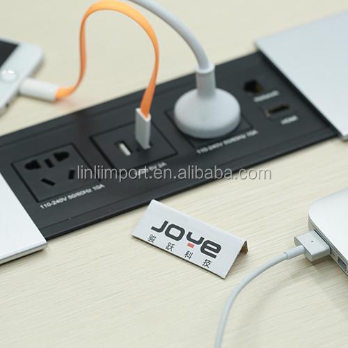 Standard Tabletop Type Electric Pop Up Power Tower Kitchen/Desktop Socket  Outlet Box