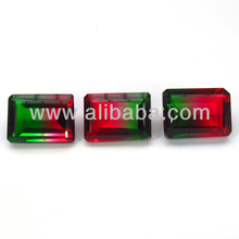 Doublet Stone- Watermelon tourmaline Wholesale Natural Crystal Quartz for Jewelry
