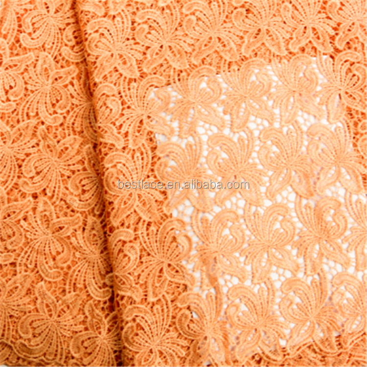 2016 fabric lace material for wedding cord lace fabric Nigerian africa lace fabric