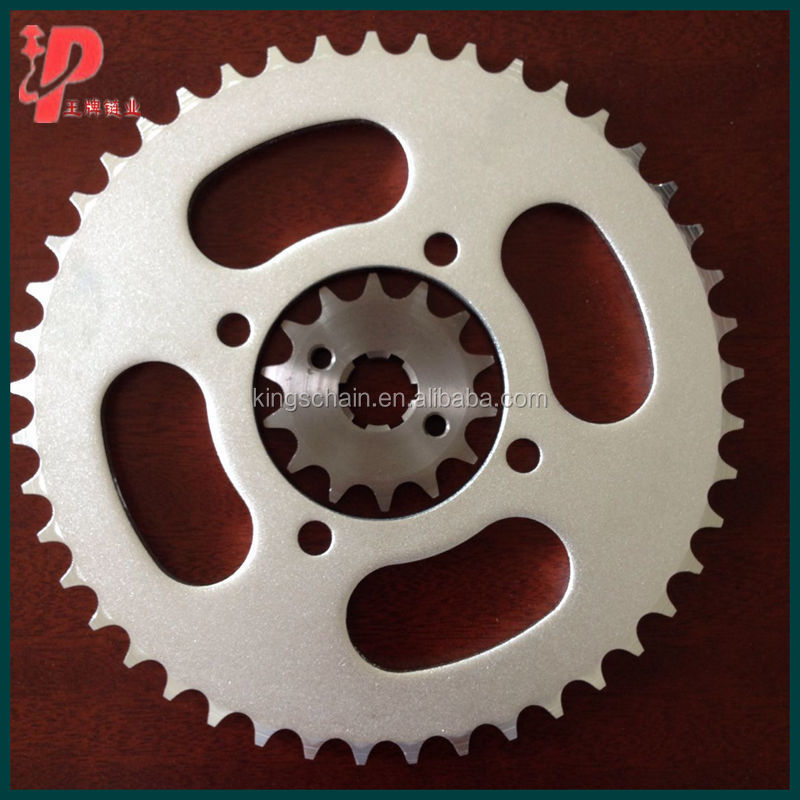 Hot 45# YBR125 45 14T motorcycle sprocket sets