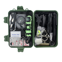 18 in 1 Emergency Gear Items Outdoor Camping Equipment Hiking SOS Multi tools Pocket Survival Kit