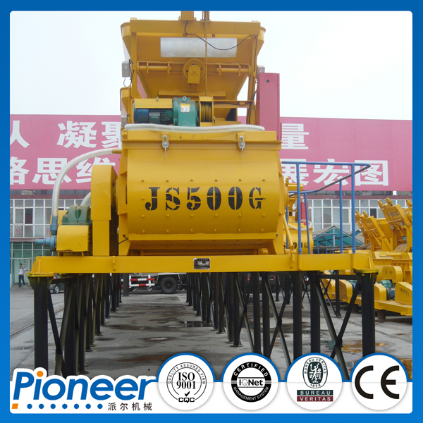 JS500 High Performance Electric Twin Shaft Concrete Mixer in China