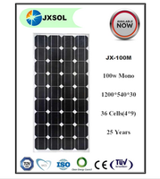 China factory supplier hot sale 100w monocrystalline solar panel 100w monocrystalline cell solar
