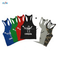 Hot selling custom design mens bodybuilding gold gym singlet