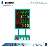 led digital clock red display/ oil gas station led price sign