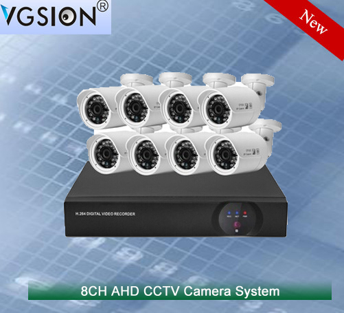 Wholesale Bullet Style 720P 8CH CCTV AHD DVR Kit 8PCS Outdoor Waterproof AHD High Focus CCTV Security Camera system