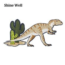 New products ancient dinosaur shape 3d promotional embroidery patch