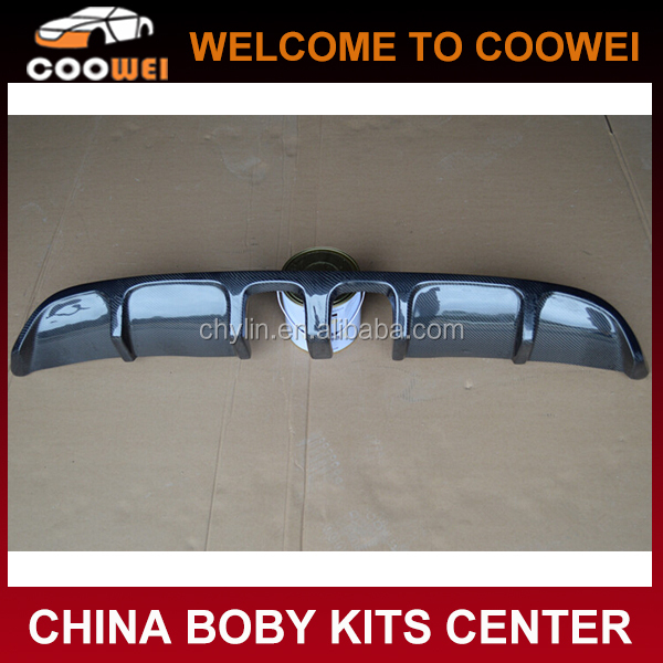 Real Carbon Fiber R20 Style Auto Car Rear Lip for Volkswagen VW Golf VI Golf 6 MK6 Standard Bumper