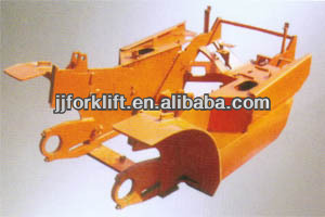 Forklift frame and overhead safe guard