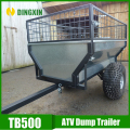 garden tow behind 2 wheel car carrier trailer