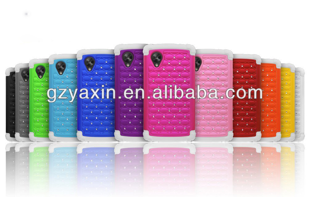 New fashion diamond bling case for LG NEXUS 5 and cover,waterproof case for lg nexus 5
