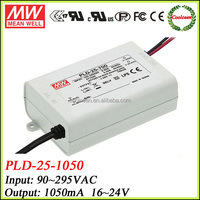 Meanwell ul listed led driver 1050ma PLD-25-1050