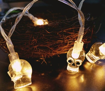 2M Party String skeleton Lights Battery Powered 10 LED Christmas Decoration Wrought iron led Light