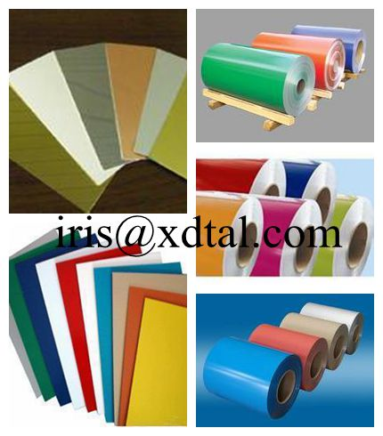 coated 1100 aluminum coil/sheet for ceiling/roofing/curtain wall/decoration