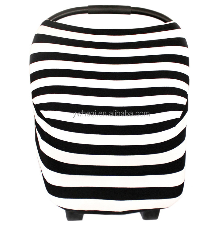 Multi-use nursing cover scarf stretchy baby car seat cover