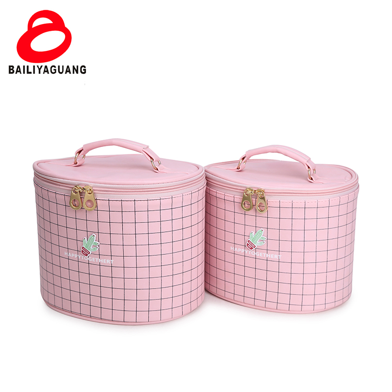 China factory cheapest zipper cosmetic bag with OEM SERVICE makeup brush kit set box cosmetic 2 in 1 makeup brush box