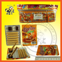 Good Sale Crispy Biscuit Sticks With Chocolate Milk Cream Jam In Tray