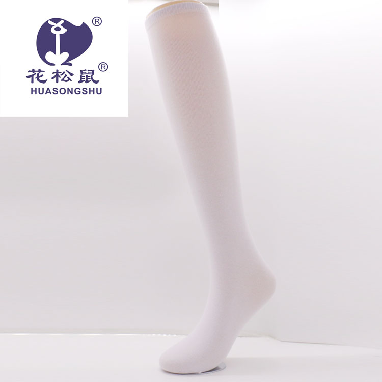 plain white pure white polyester socks for print socks