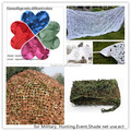 Leaf shaped ripstop Army Hunting Camping vietnam camouflage winter camouflage netting fire retardant red