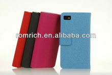 new arrival leather flip wallet case purse skin cover for Blackberry Z10