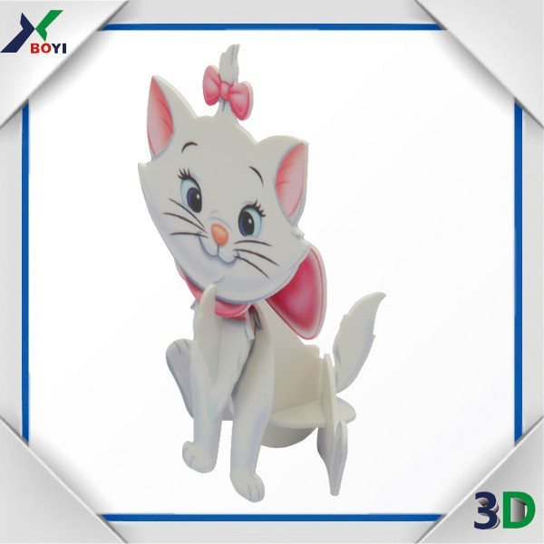 cute animal cartoon 3d puzzle painting diy toy