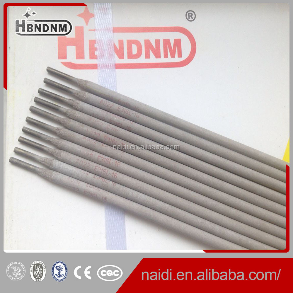 ss welding electrodes 3/32 aws e316l-16 for synthetic fiber
