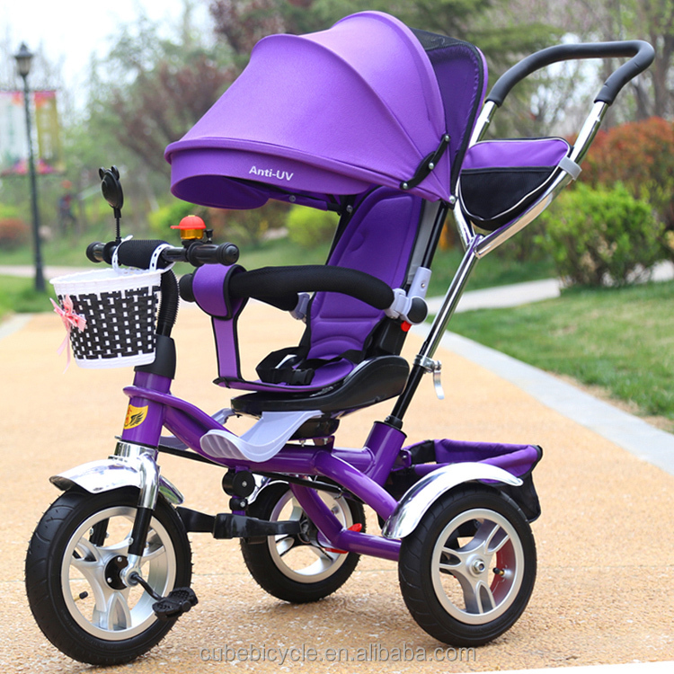 China manufactured high quality aluminium baby stroller 3 in 1 function baby stroller