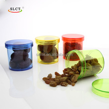 PS clear recycled wide mouth cosmetic cream plastic sweet jars