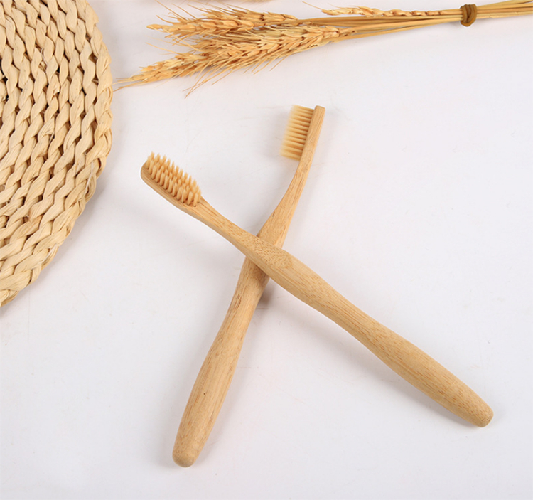 2019 new custom logo Soft hair organic bamboo toothbrush