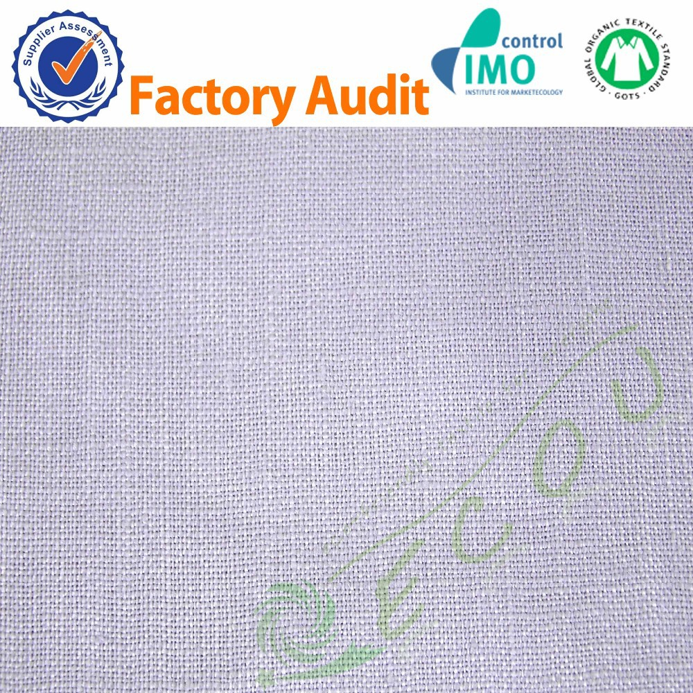 2015 new100%linen fabric linen manufacturer for napkin garment