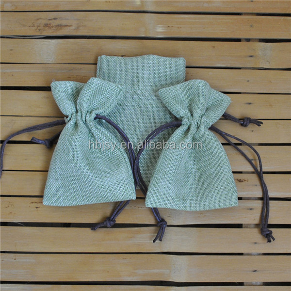 hot sale jewelry envelope jute pouch with drawstring