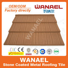 USA,Canada popular stone coated metal roof tile, Wanael gable roof