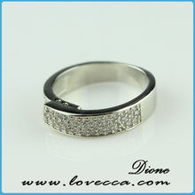 Fashion Jewelry OEM/ODM High end Princess Cut Love Diamond Wedding Rings