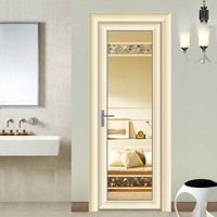 Low price auminium double glass casement,swing,hinges french door for sales