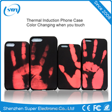 Multiple color case thermal color change cover cases heat sensitive induction phone case for iPhone 7