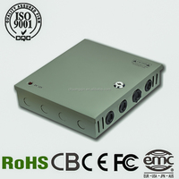 Hot sale!! CQ-120W-12V 10A 9CH/9Channels Output Mode CCTV Power Supply/ CCTV Power Box