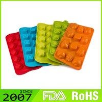 Rohs Certified Premium Quality Custom Printed High Quality Silicone Old Fashioned Animal Shape Ice Cube Trays